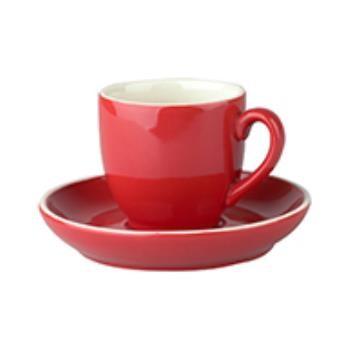 Robusta Koffie rood 14 cl. SET