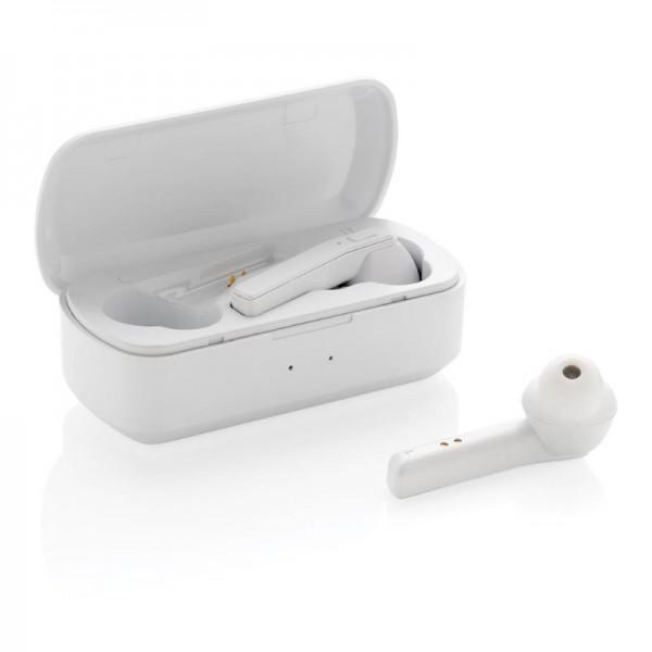 Free Flow TWS oordoppen in oplaadcassette, wit
