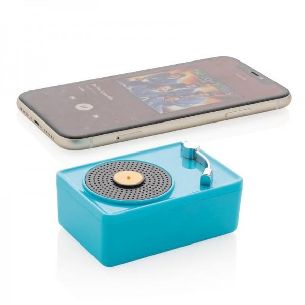 Mini Vintage 3W draadloze speaker, blauw
