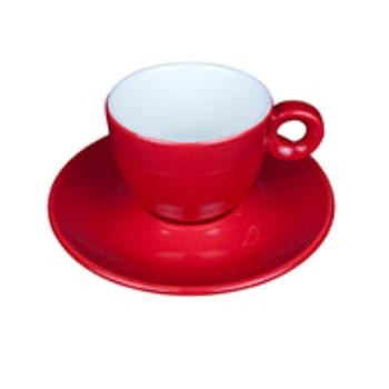 Bola Koffie rood-roomwit 15 cl. SET