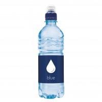 Bronwater 500 ml met sportdop blauw