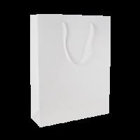 Glans gelamineerde papieren tas 200x260x80 mm wit
