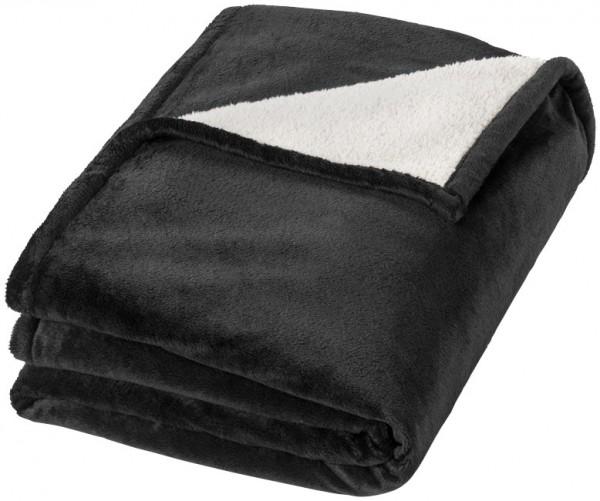Hamptons deken van zacht velours met sherpa plaid