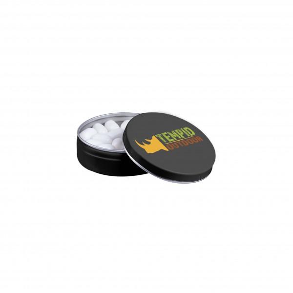 Mat zwart blikje Tic-Tac