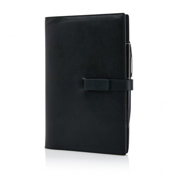 Executive 8GB USB notitieboek met stylus pen