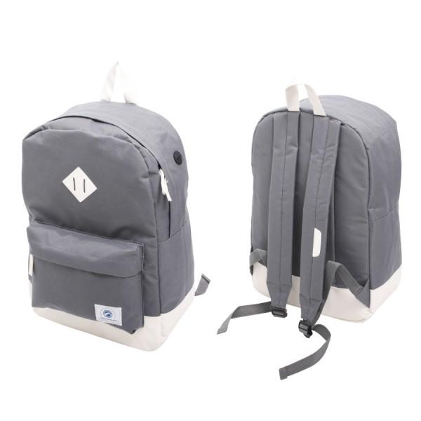 Vintage Backpack Grey & White