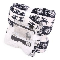 Deluxe Blanket Reindeer Black