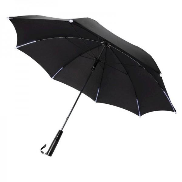 """23"""" manueel open/dicht LED paraplu, zwart"""