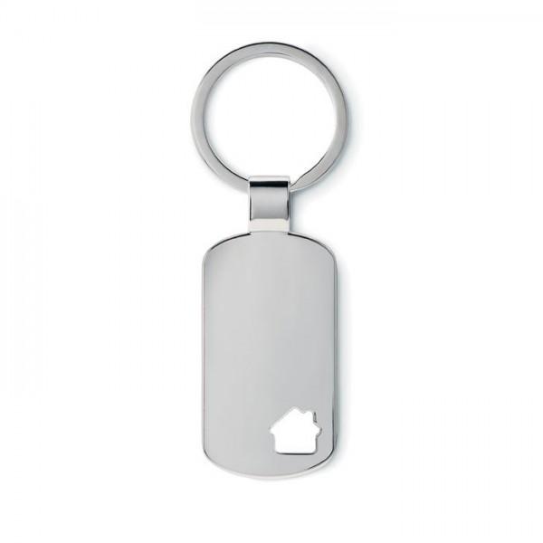 Metalen sleutelhanger, huisje