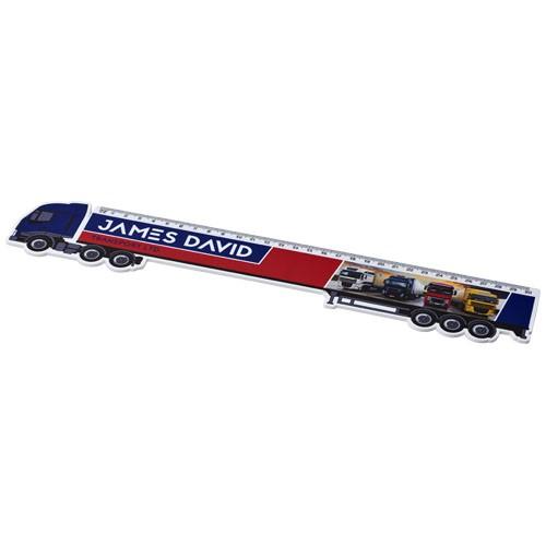 Loki 30 cm kunststof liniaal in vrachtwagenvorm