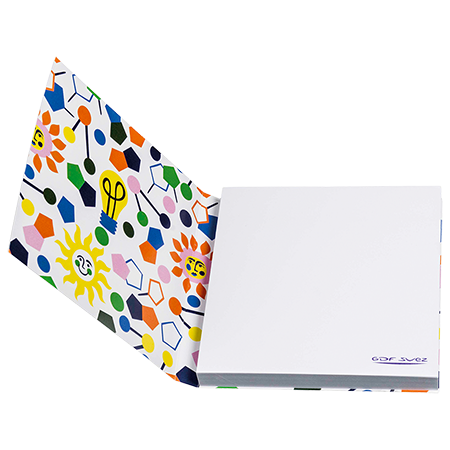 Sticky notes in omslag 70x75 mm 25 vel