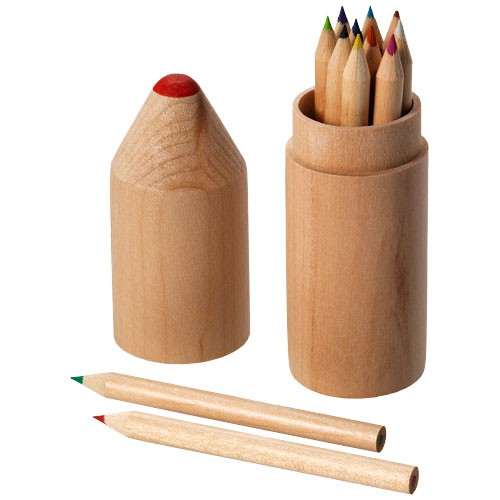 Woody 12 delige potlodenset