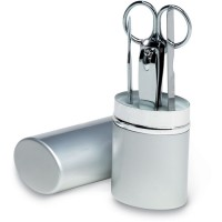 Manicureset in aluminium koker 16
