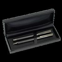 SAMAR pennenset metaal/carbon fiber met 1 balpen en 1 rollerball Peekay