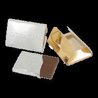 Creditcard chocolade tablet met embossing