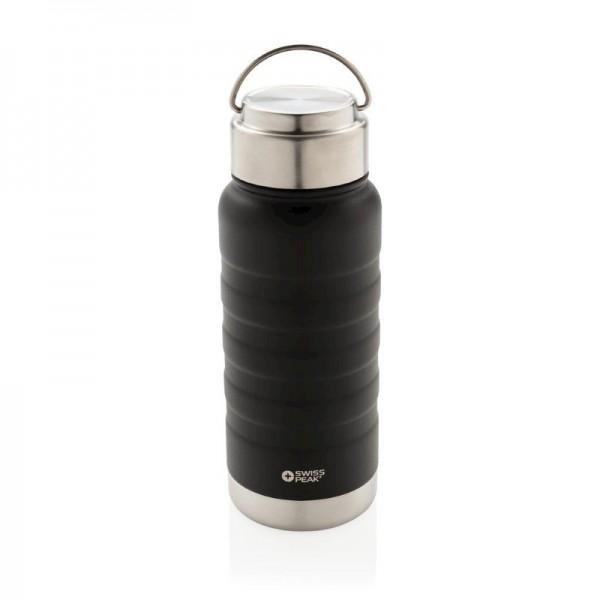 Swiss Peak Elite koperen vacuum fles met hendel, zwart