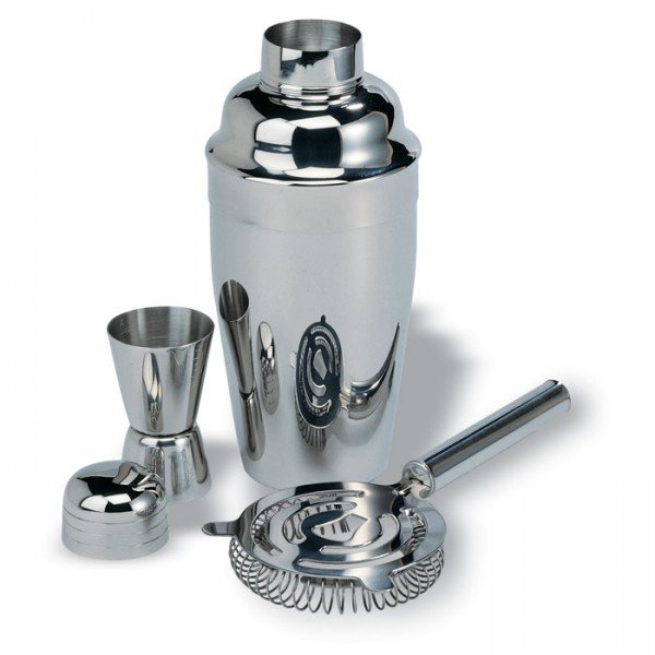 Chroomkleurige cocktailset