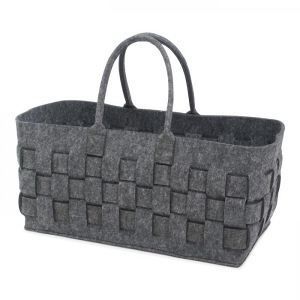 Felt Bag Braided Anthracite