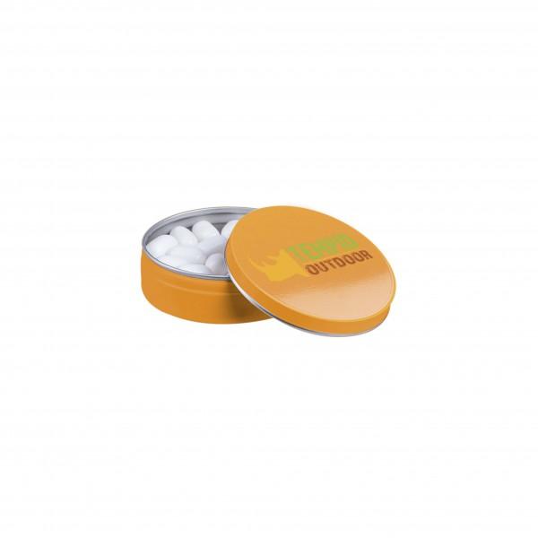 Oranje blikje Tic-Tac