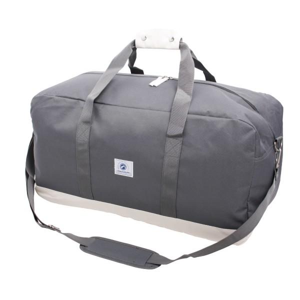 Vintage Weekendbag Grey & White