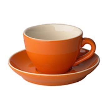 Robusta Cappuccino oranje 18 cl.SET