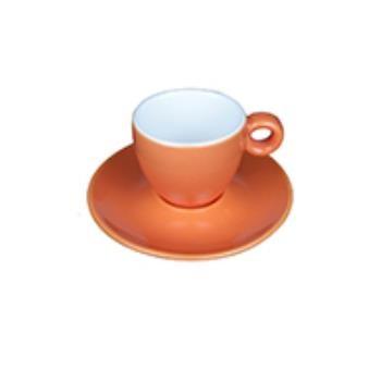 Bola Espresso oranje-roomwit 8 cl. SET