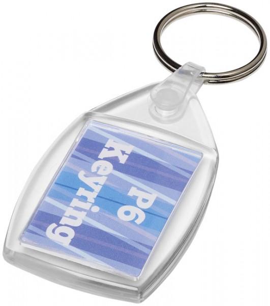 Lita kunststof sleutelhanger met kunststof clip
