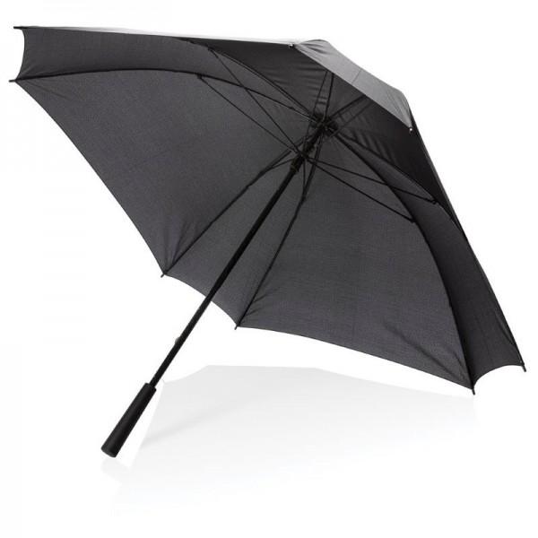"""27"""" XL logo vierkante paraplu, zwart"""
