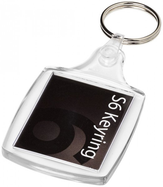 Vosa kunststof sleutelhanger met kunststof clip