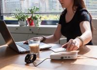 Bamboe 5W draadloze opladermet 3 USB-poorten