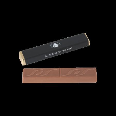 Chocolade stick ca. 18 gr. met karamelvulling tot in full colour bedrukt