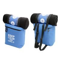 Keep Calm Coolerbag with Plaid Blue