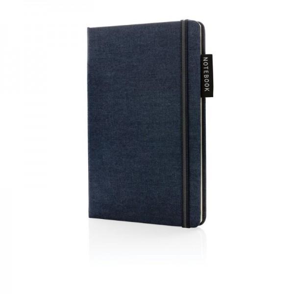 Deluxe A5 denim notitieboek, donkerblauw