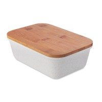 Lunchbox met bamboe deksel