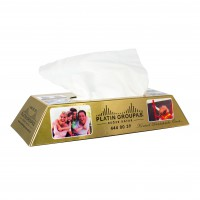 Tissue box goudstaaf wit