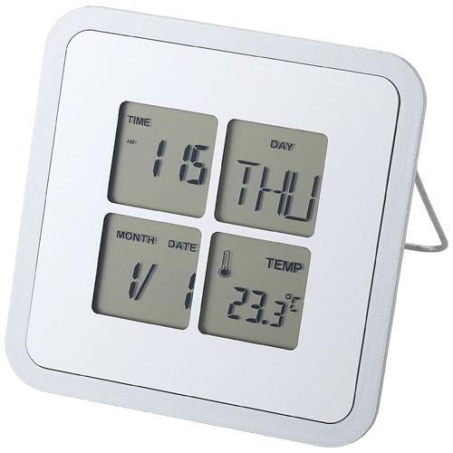 Livorno bureauklok met temperatuur