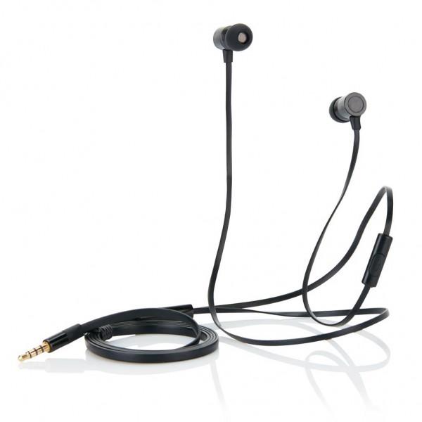 In-ear oordoppen met platte kabel