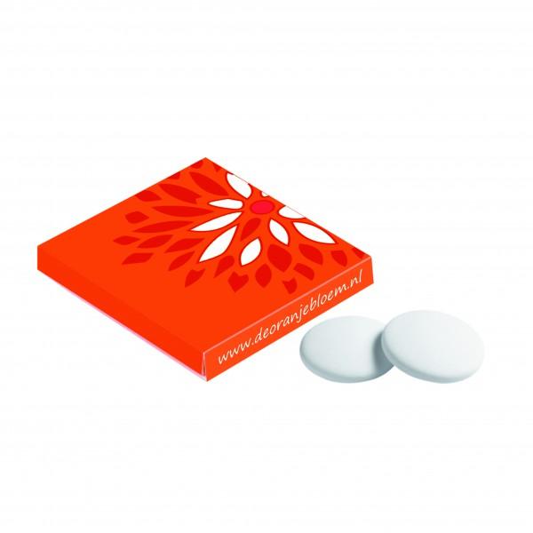 Vierkant doosje met pepermunt imperiales