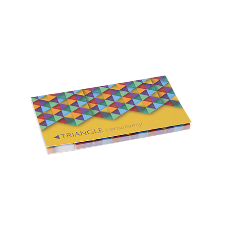 Sticky notes in omslag 2 in 1 135x75 mm 100 vel