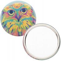 button met pin en spiegel
