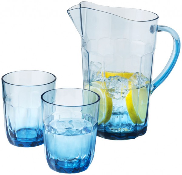 Waterkan met 2 glazen