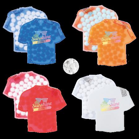 T-shirt mintdispenser duo met ca. 8 gr. mintjes en ingredienten label DIGITAAL tot full colour