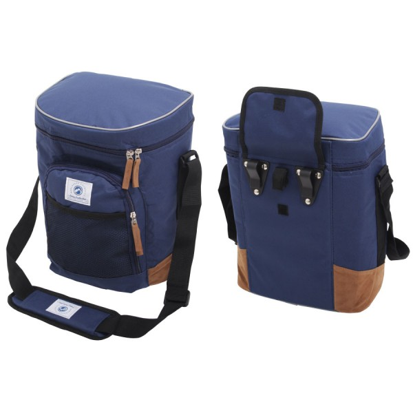 Vintage Coolerbag Blue & Brown