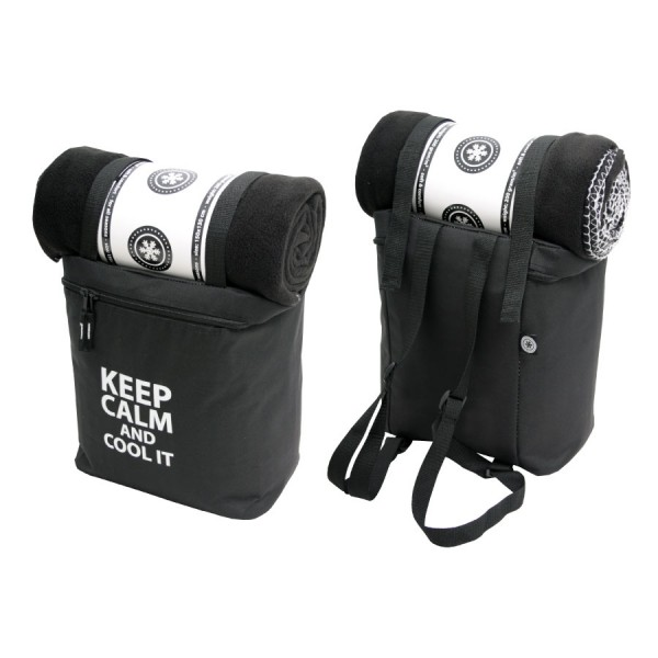 Keep Calm Coolerbag with Plaid Black