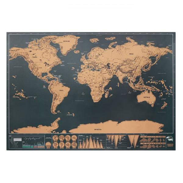 Wereld-kraskaart