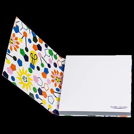 Sticky notes in omslag 70x75 mm 100 vel