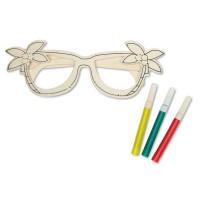 Houten bril met tekenset