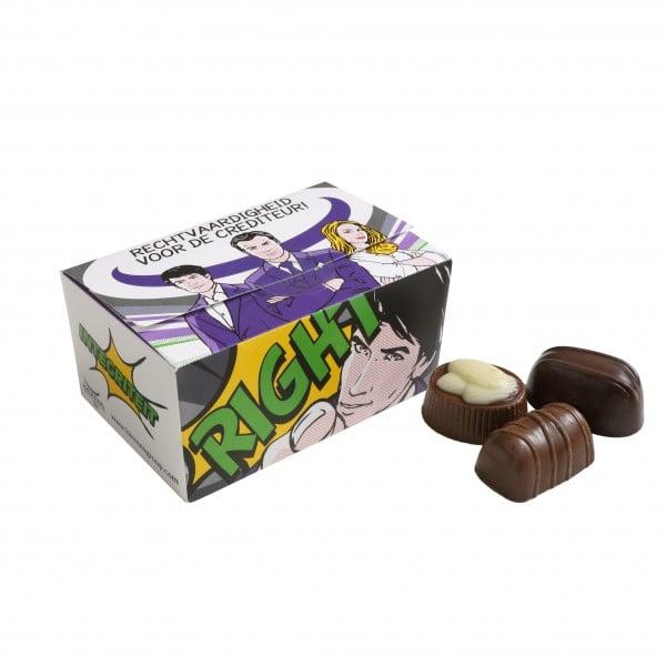 Ballotin met Belgische bonbons