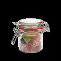 Glazen weckpot 255 ml gevuld met snoep categorie BASIS