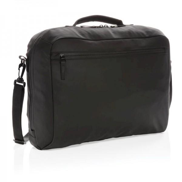 "Fashion black PVC vrije 15.6"" laptop tas, zwart"